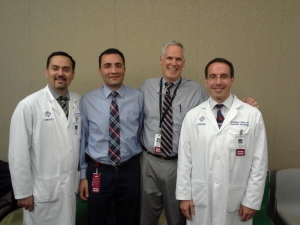 Drs. Ashkan Mowla, Peyman Shirani, Robert Sawyer, and Christopher Deline (left to right)